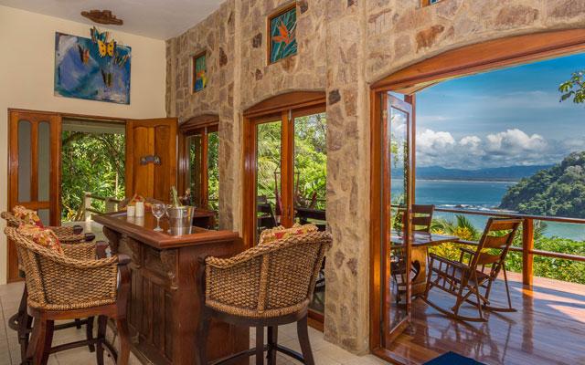 Casa Pura Paz living room, deck and view