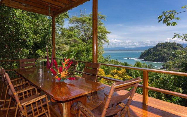 Casa Pura Paz outdoor dining and view