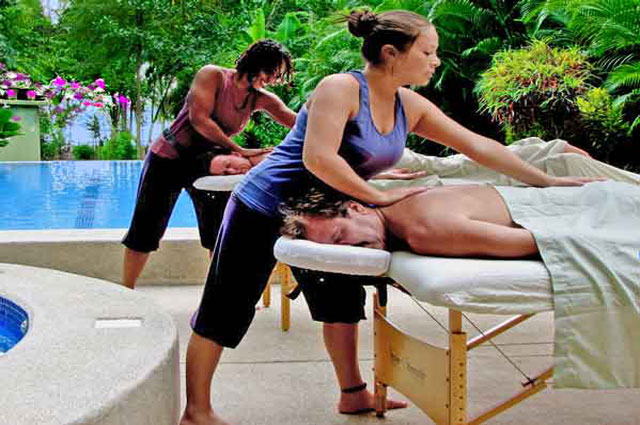 Discovery Beach House poolside massage
