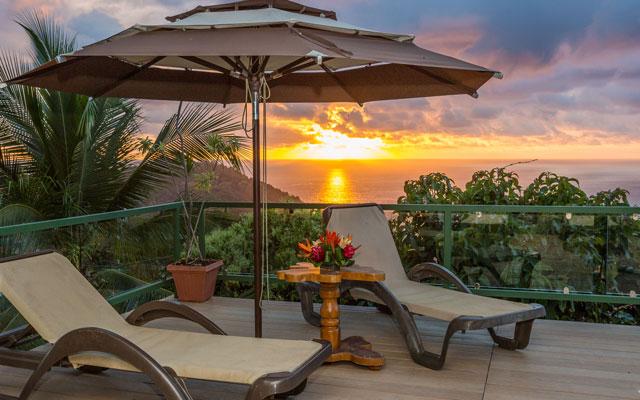 Casa Grande Vista terrace sunset