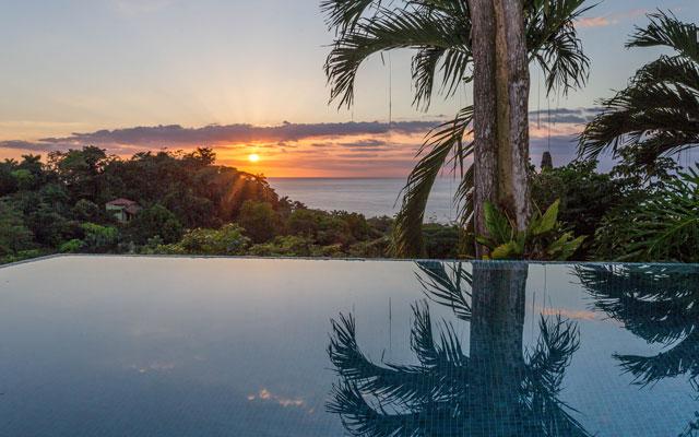 Casa Karma pool at sunset
