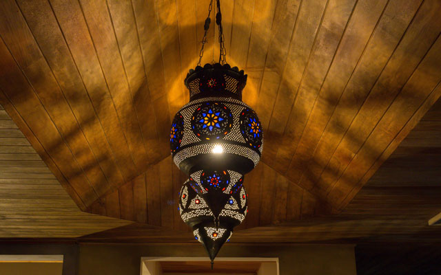 Casa Karma light and ceiling detail
