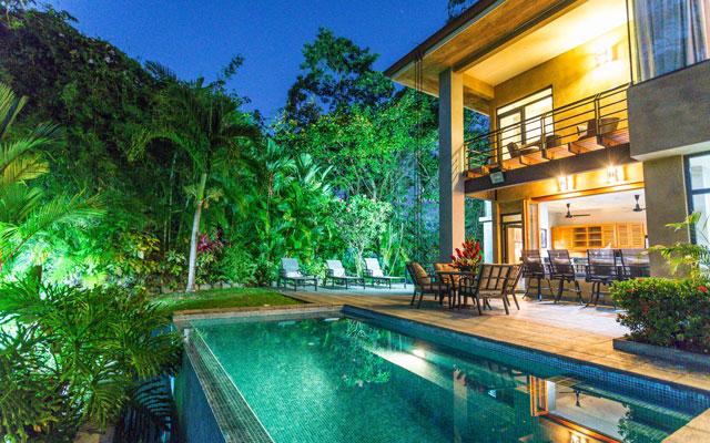 Casa Karma pool at night