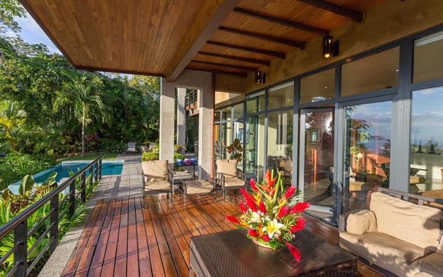 Casa Karma terrace and pool