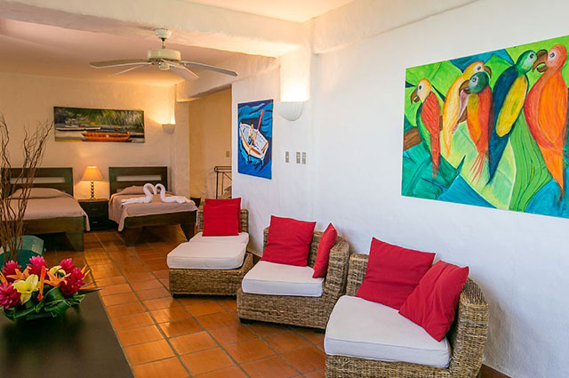 Manuel Antonio Vacation Rental VP Private Resort bedroom with 2 queen and 2 single beds
