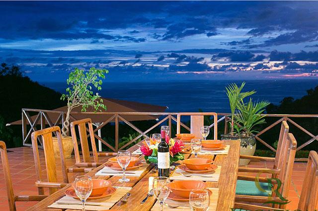Manuel Antonio Vacation Rental VP Private Resort sunset dining