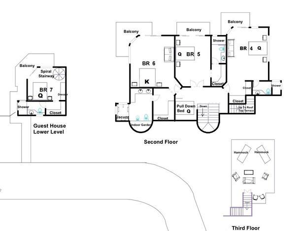 Vista Oceana Upper floors plan