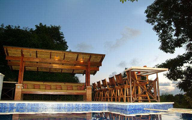 Casa Reserva terrace from pool