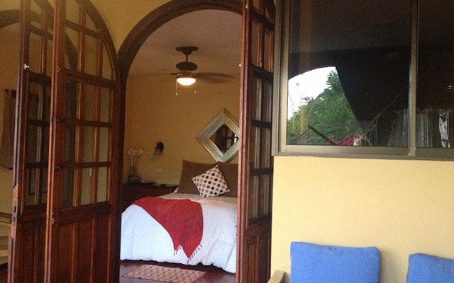 Villa Vista del Mar queen bed from balcony