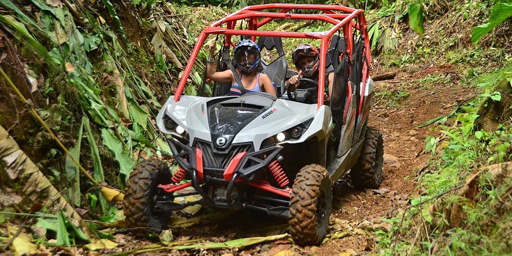 ATV on a muddy trail