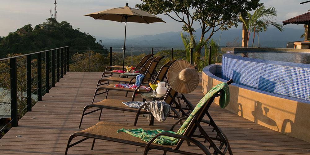 Villa Celaje deck and view