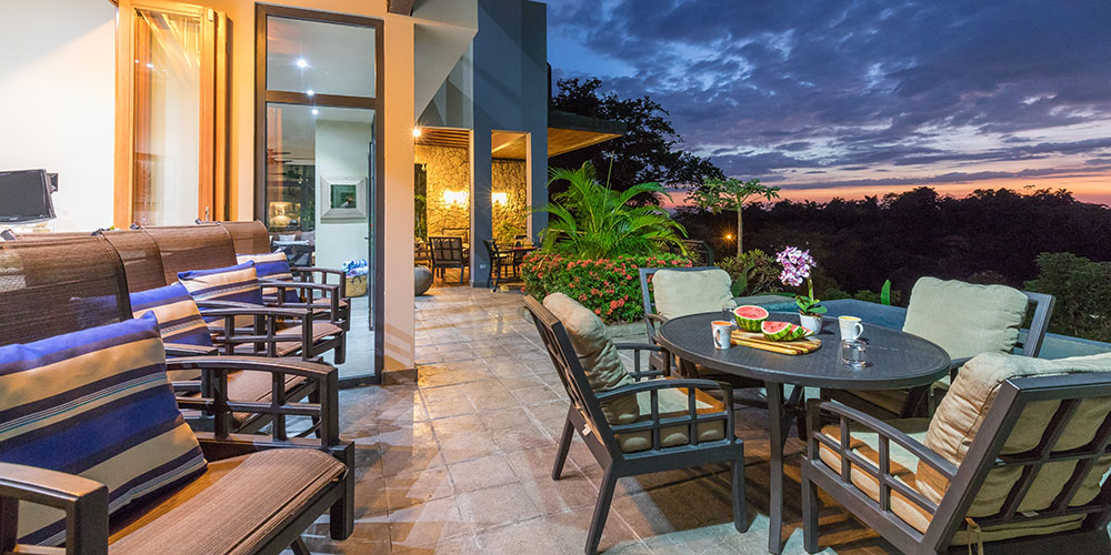 Casa Karma terrace sunset