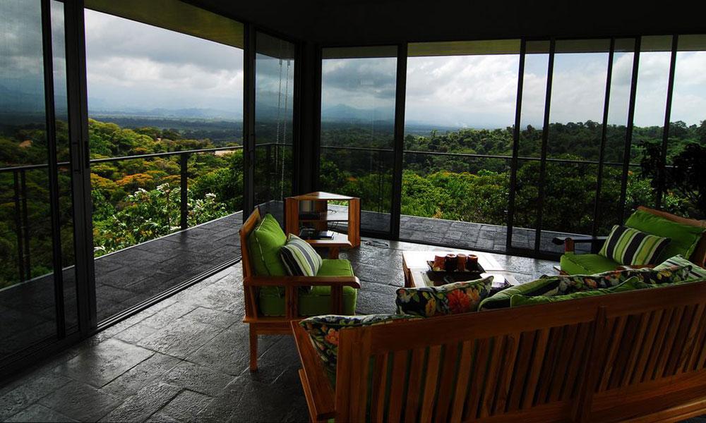 Casa de los Suspiros sitting area and view