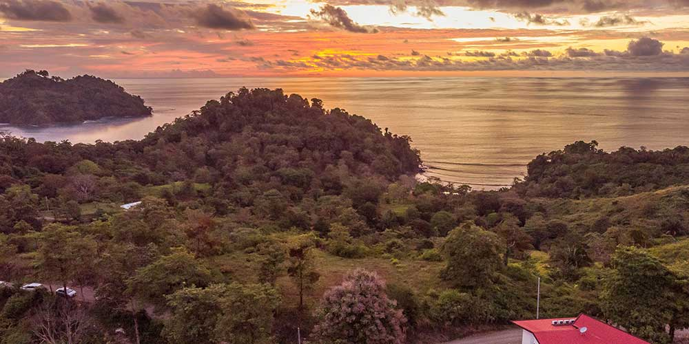 Casa Wyrica aerial sunset